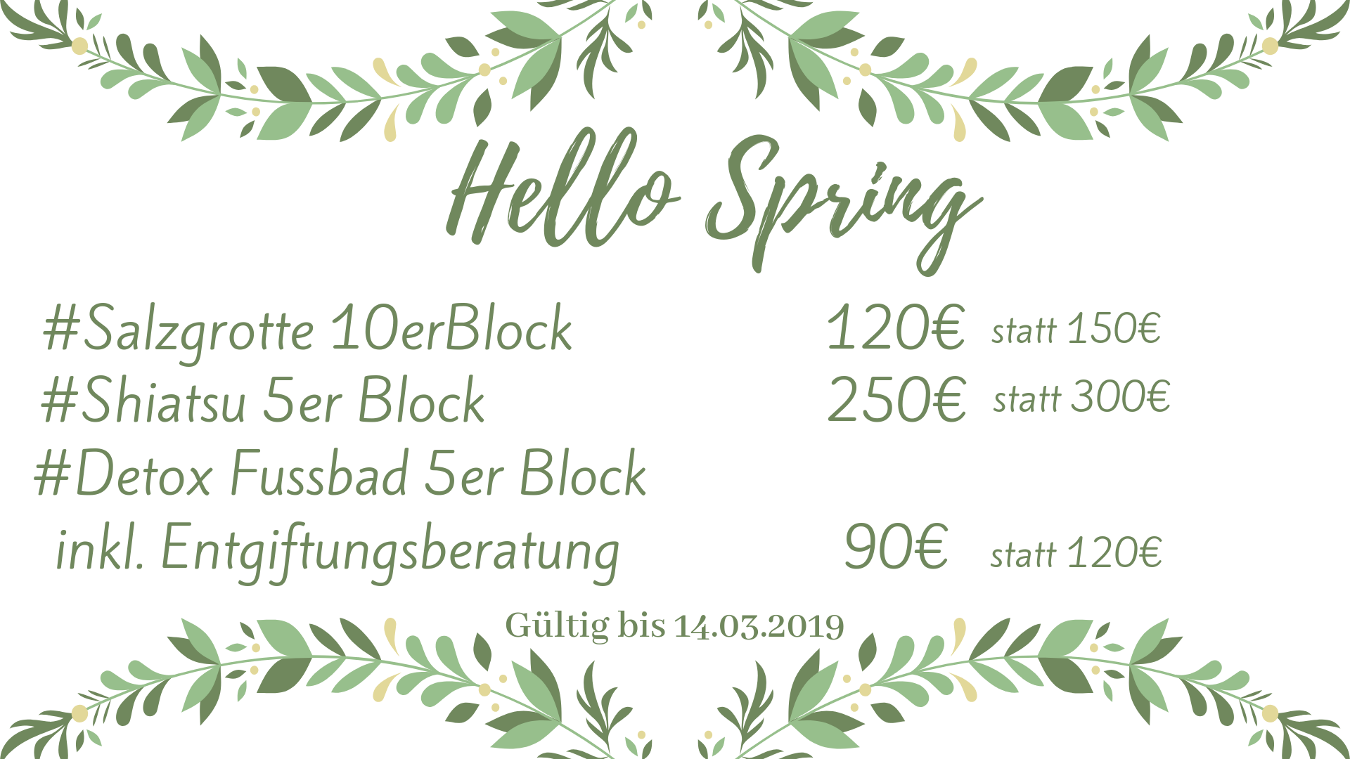 Xundwerk-Frühjahrsaktion